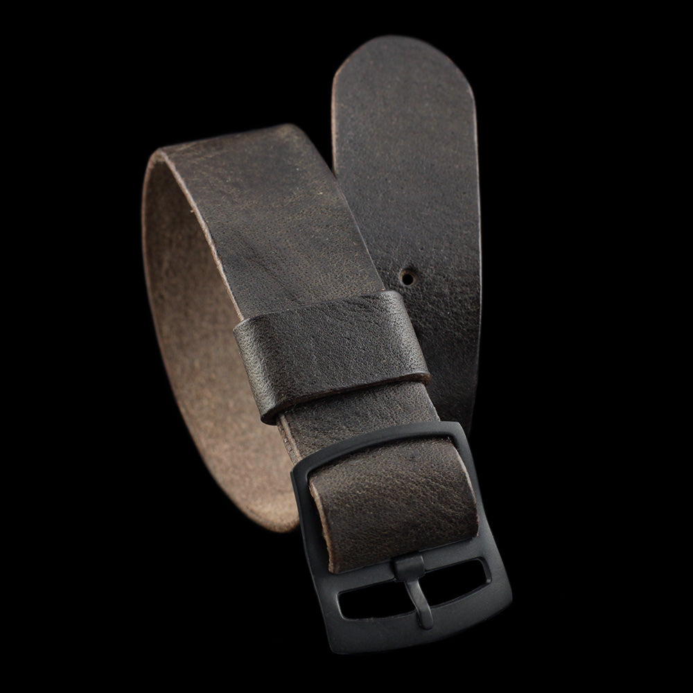 Vintage 406 Leather One Piece Watch Strap | Adjustable | Cozy Handmade