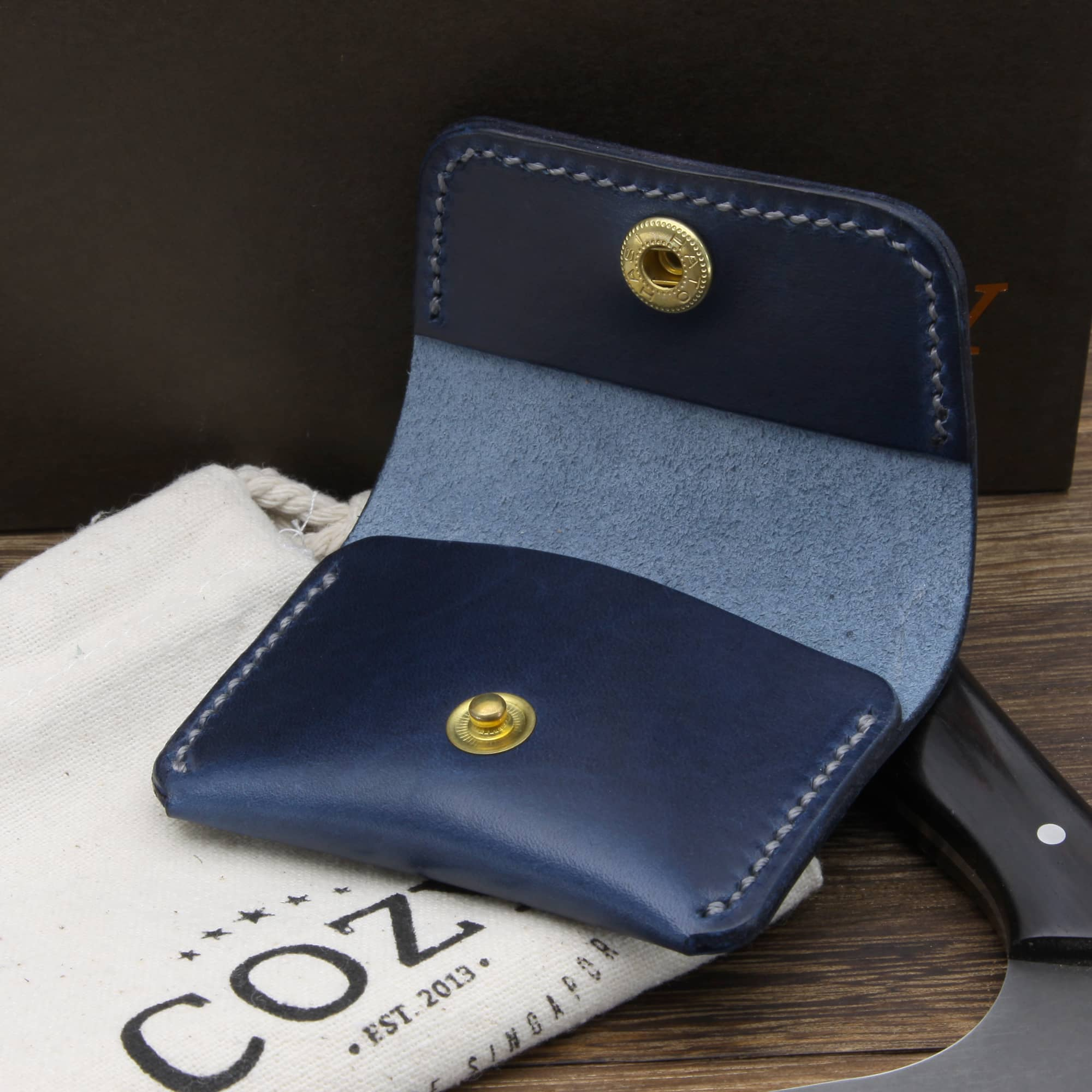 Leather Coin Purse, Sequoia 108 | Cozy Handmade