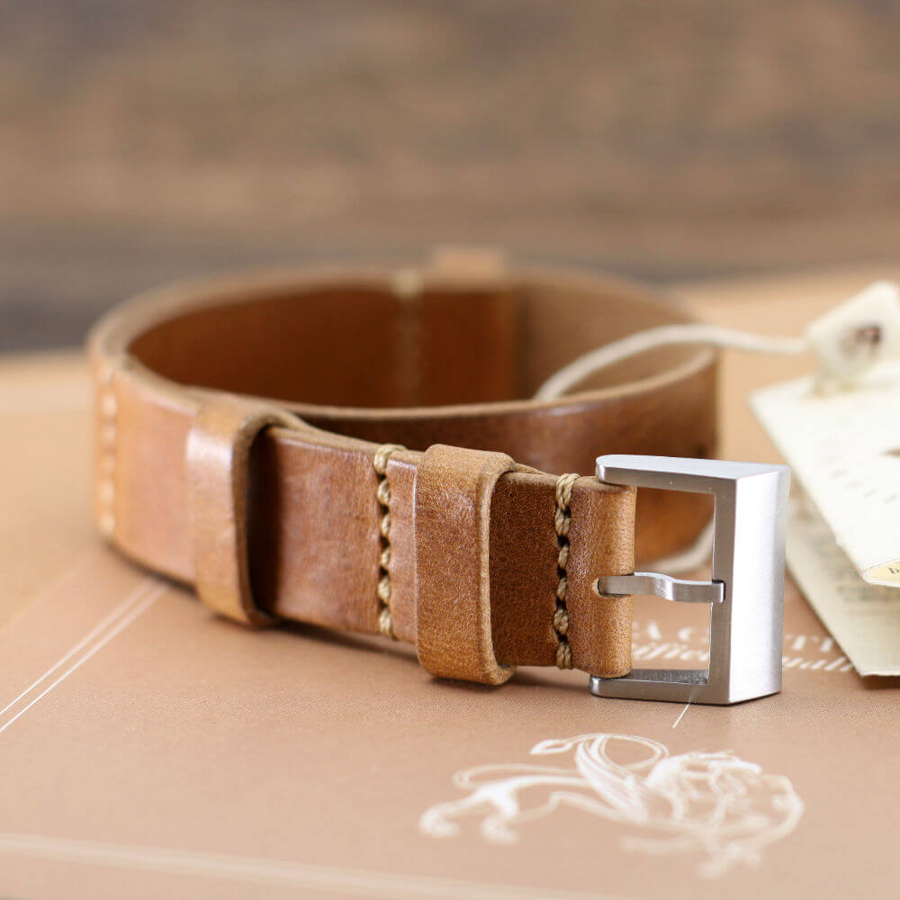 NAT2 Leather Watch Strap, Vintage 401