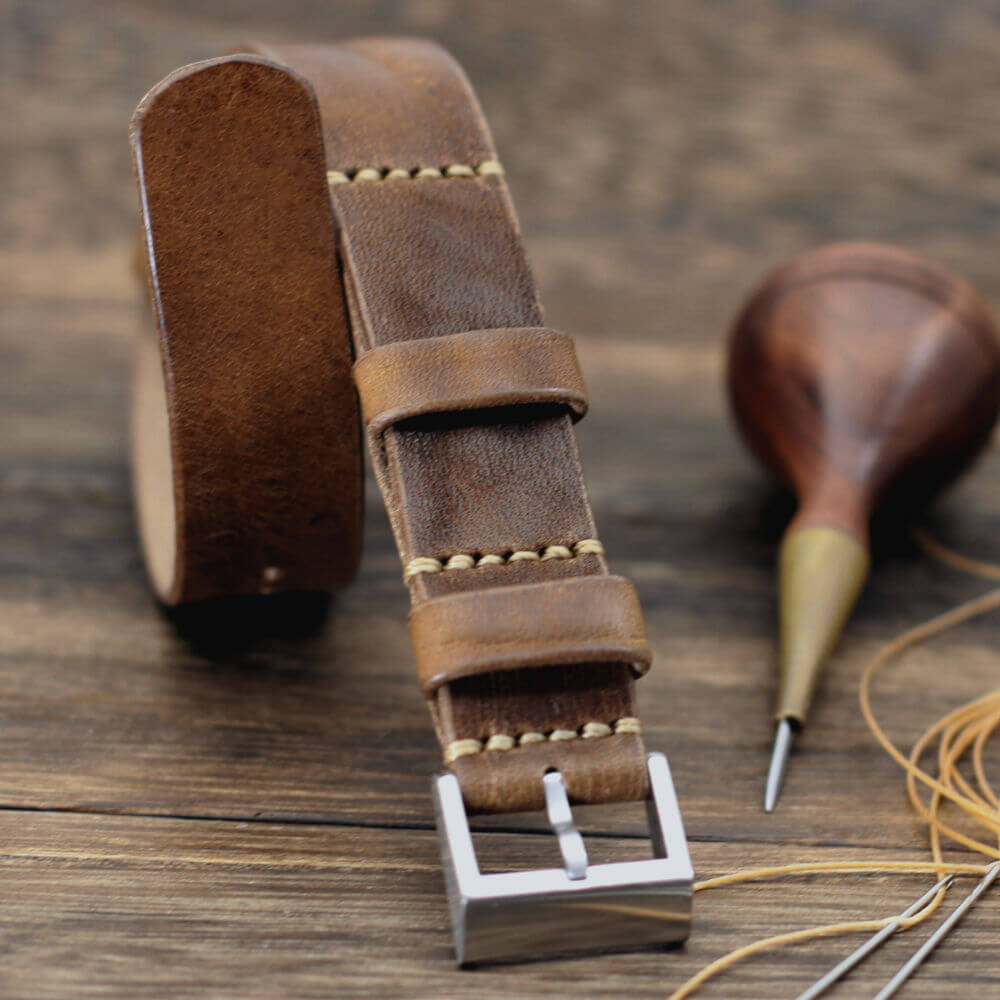 Leather NANAT2 Leather Watch Strap, Vintage 402TO Strap, Vintage 402 Style II