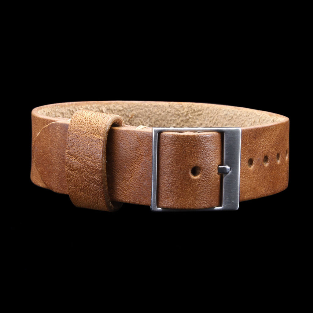 Leather Watch Strap, Classic RAF II Vintage 401 | Ladder Buckle