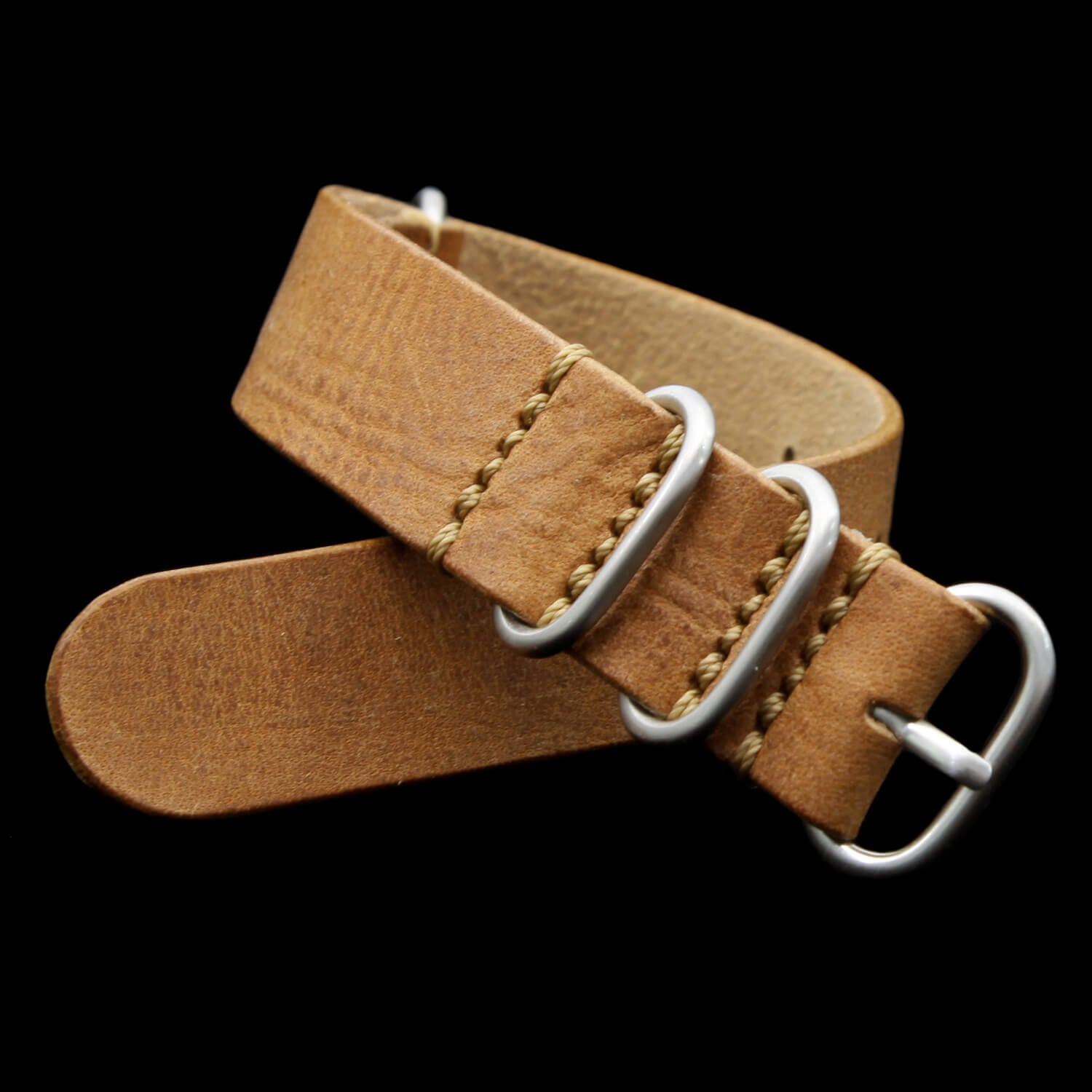 Leather Watch Strap, 4-Ring Vintage 401