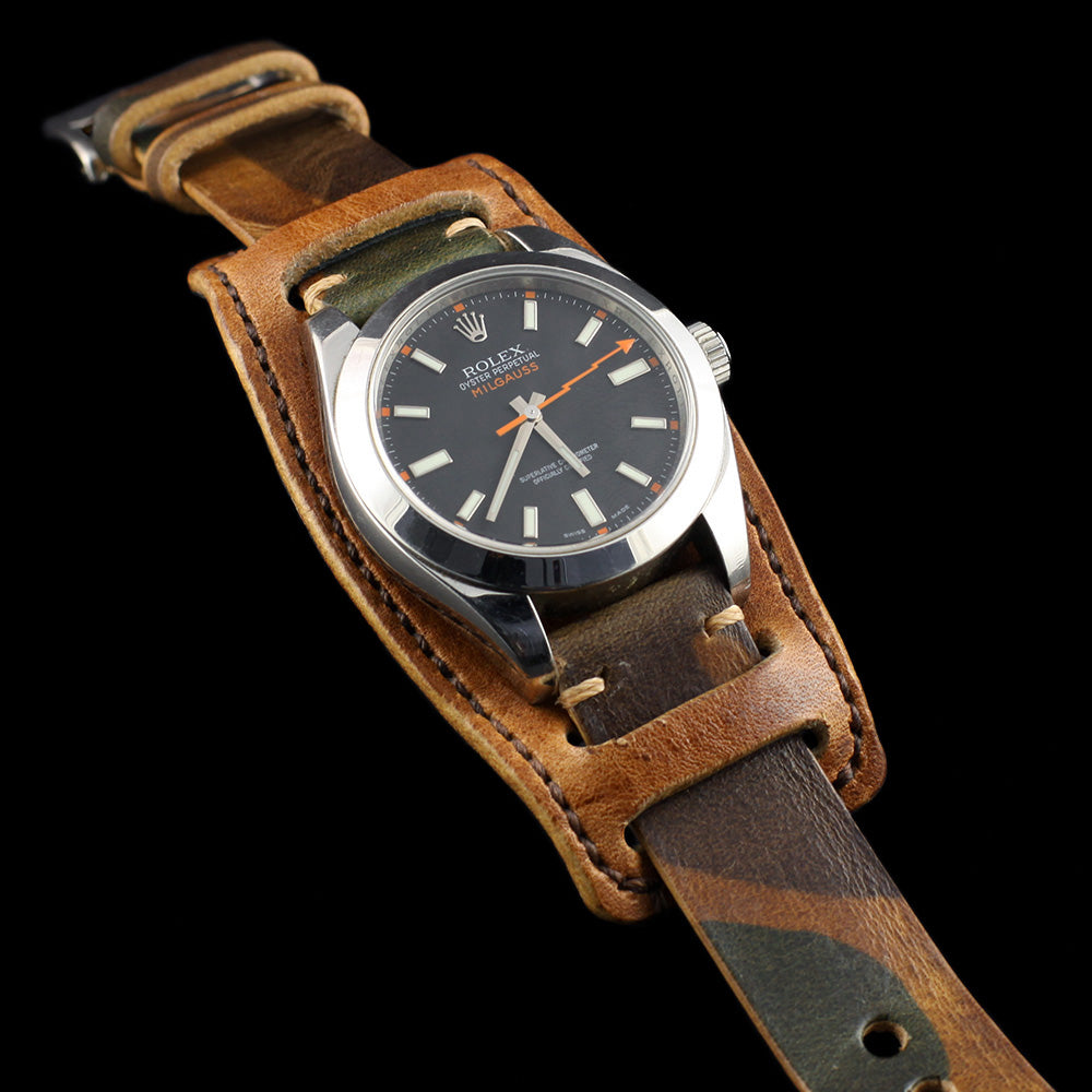 Vintage 401 Leather Watch Bund Pad, Italian Vegetable-Tanned Leather | Cozy Handmade