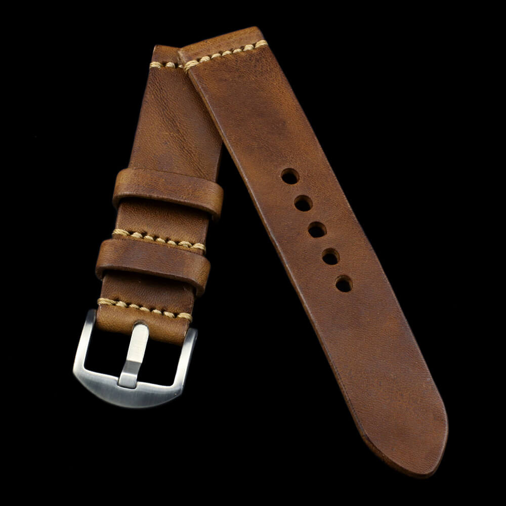 Leather Watch Strap, Vintage 402 | Italian Veg Tanned | For Apple Watch | Cozy Handmade