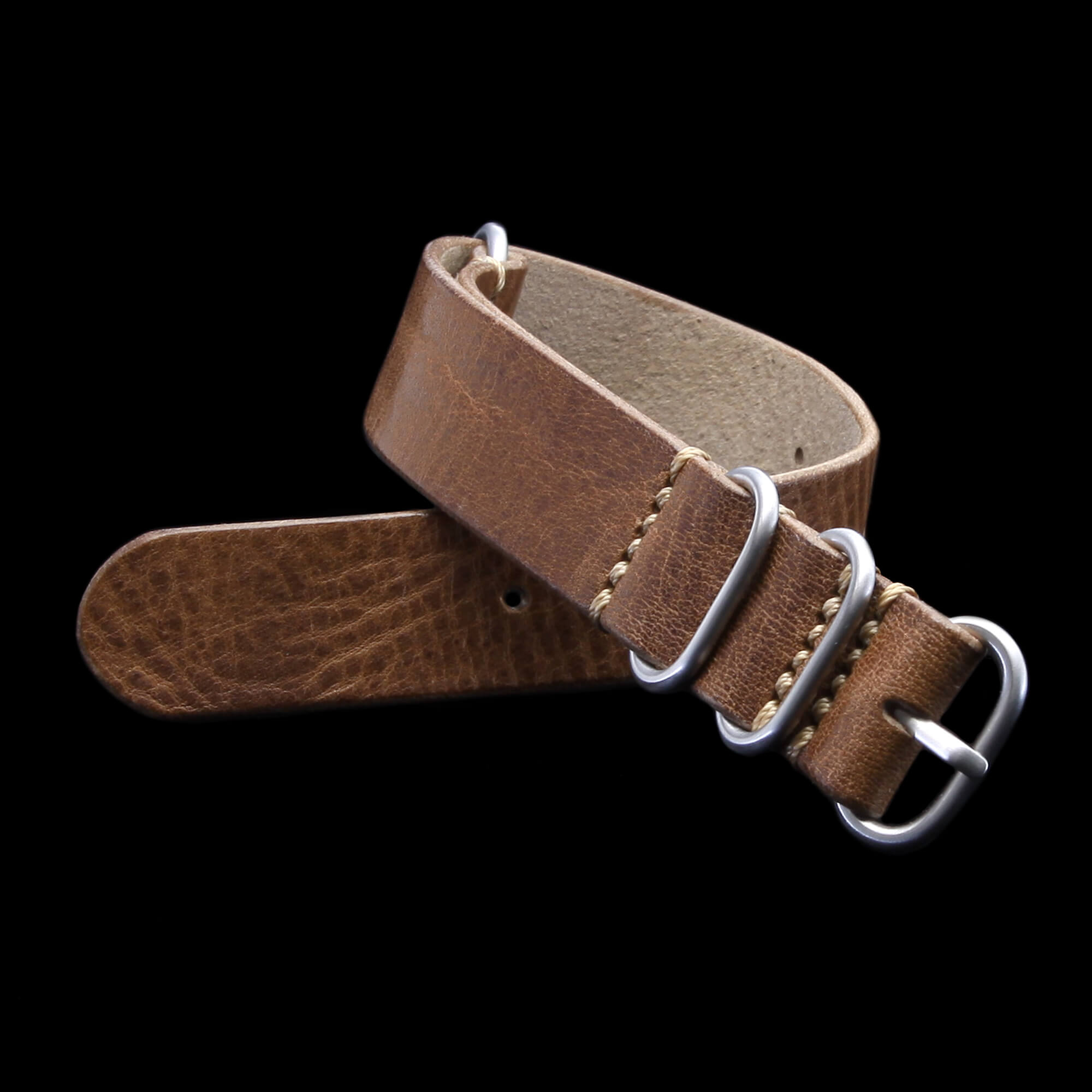 Leather Watch Strap, 4-Ring Vintage 402