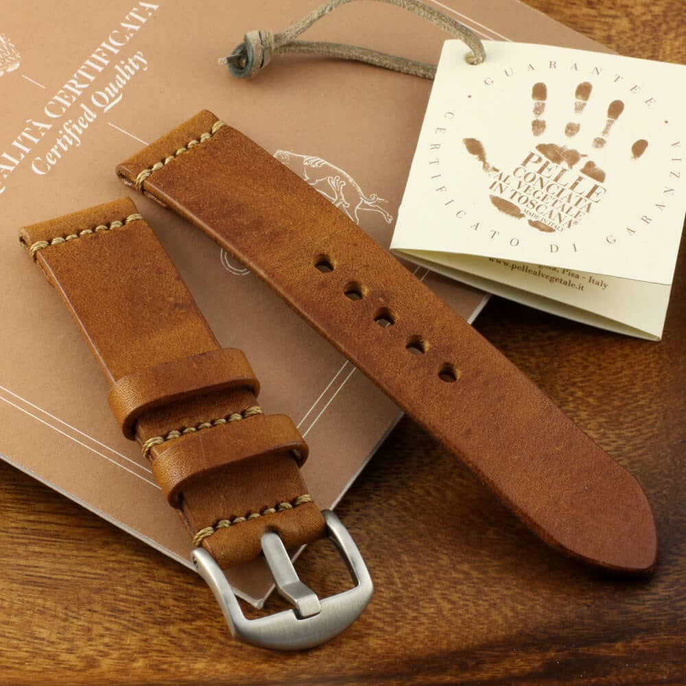 Leather Watch Strap, Vintage 403 | Italian Veg Tanned | Cozy Handmade