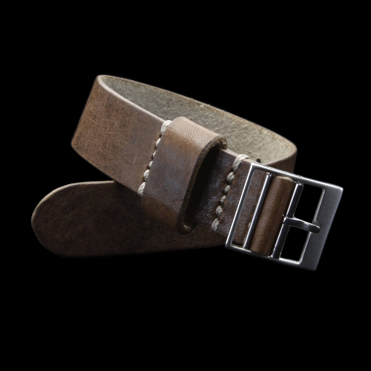 Leather Watch Strap, Classic RAF II Vintage 404 | Ladder Buckle