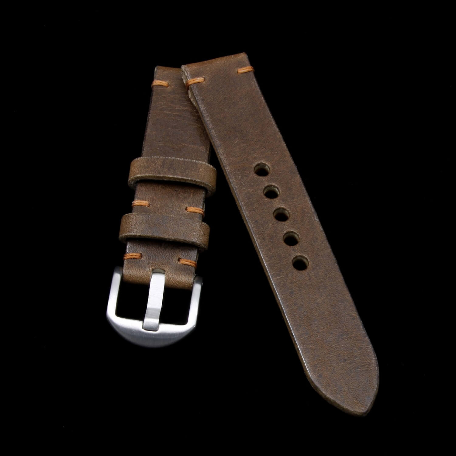 Leather Watch Strap, Vintage 404 | Italian Veg Tanned | For Apple Watch | Cozy Handmade