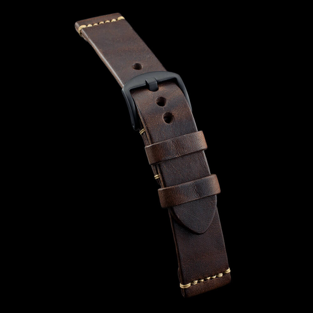 Leather Watch Strap, Vintage 405 | Italian Veg Tanned | Cozy Handmade