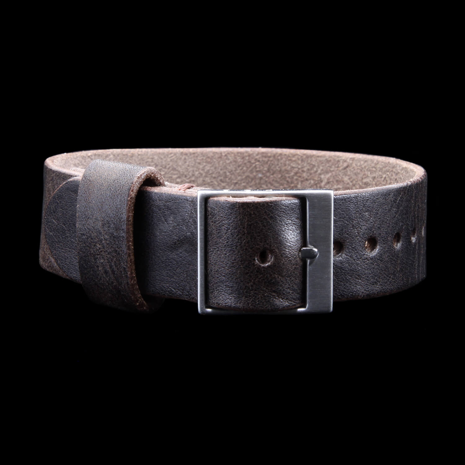Leather Watch Strap, Classic RAF II Vintage 406 | Ladder Buckle