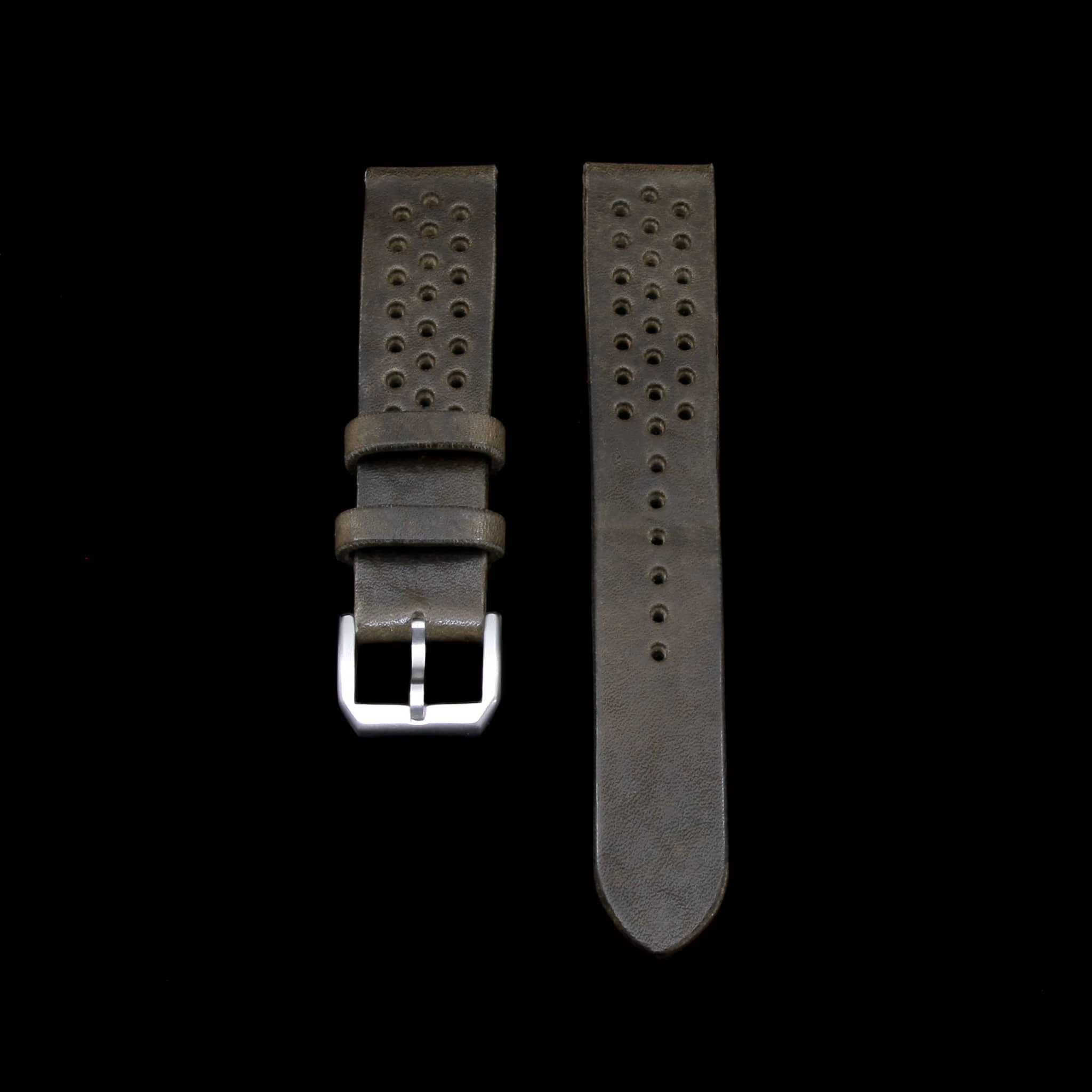 Rally Leather Watch Strap, Vintage 408 | Stitch-less | Cozy Handmade