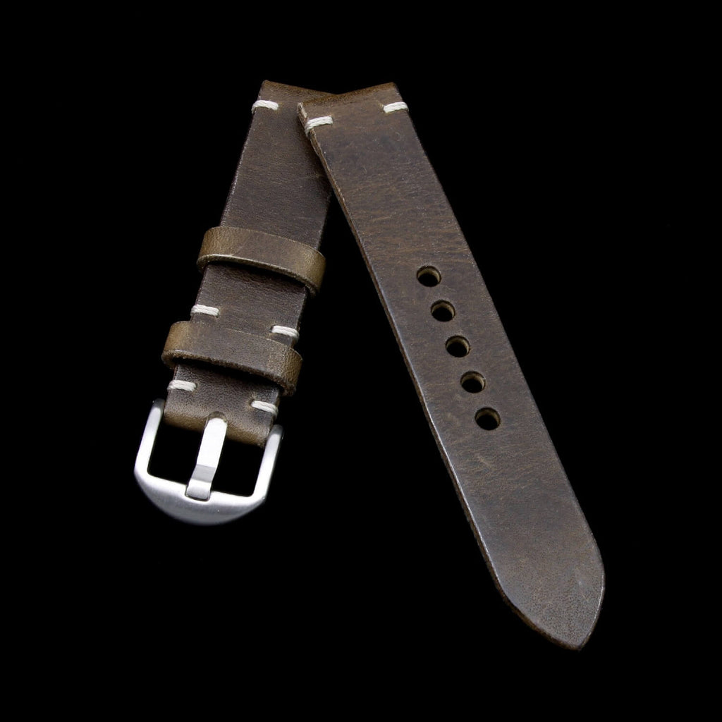 Leather Watch Strap, Vintage 408 | Italian Veg Tanned | Cozy Handmade