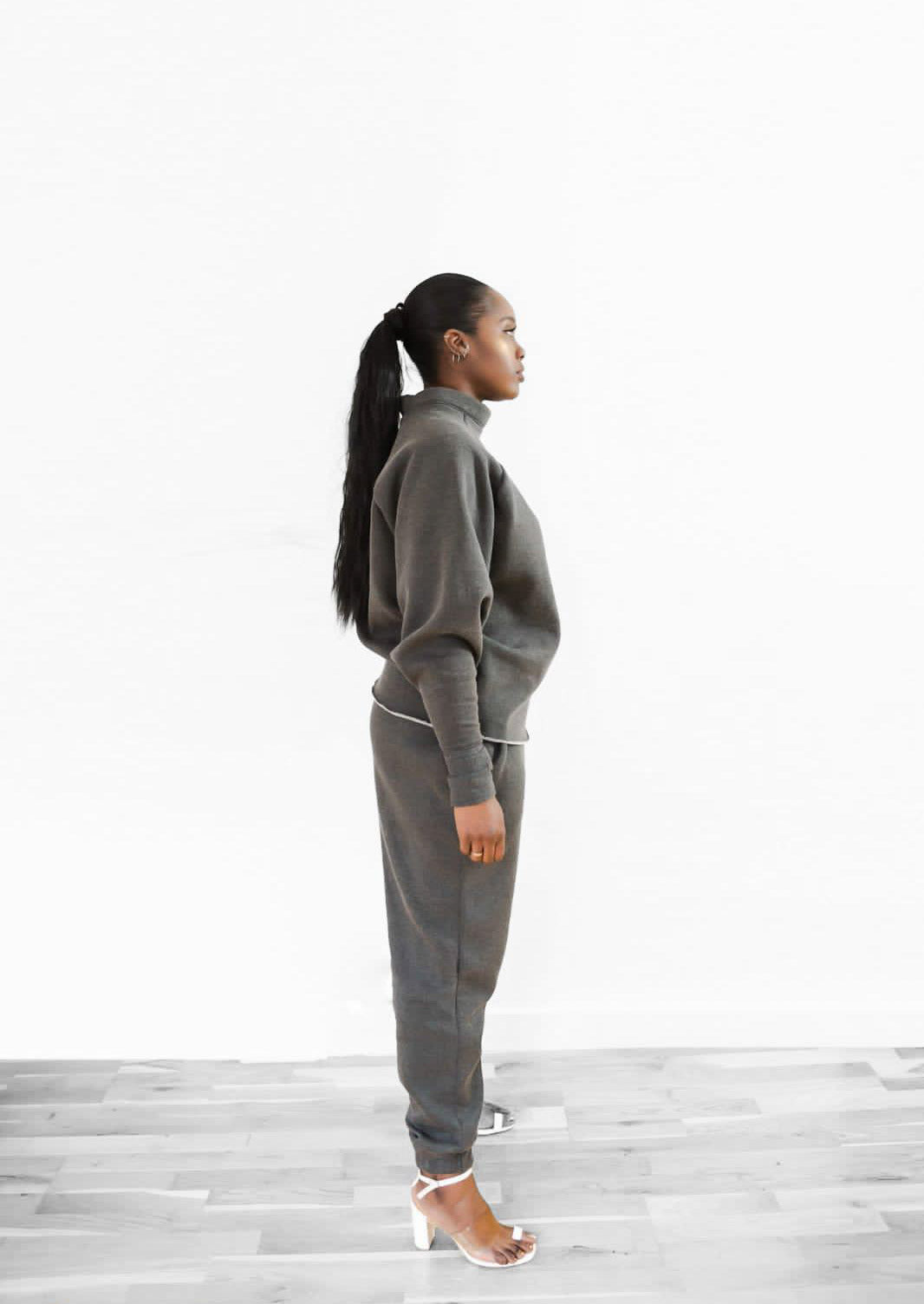 THE CHLOE TRACKSUIT - CHARCOAL GREY