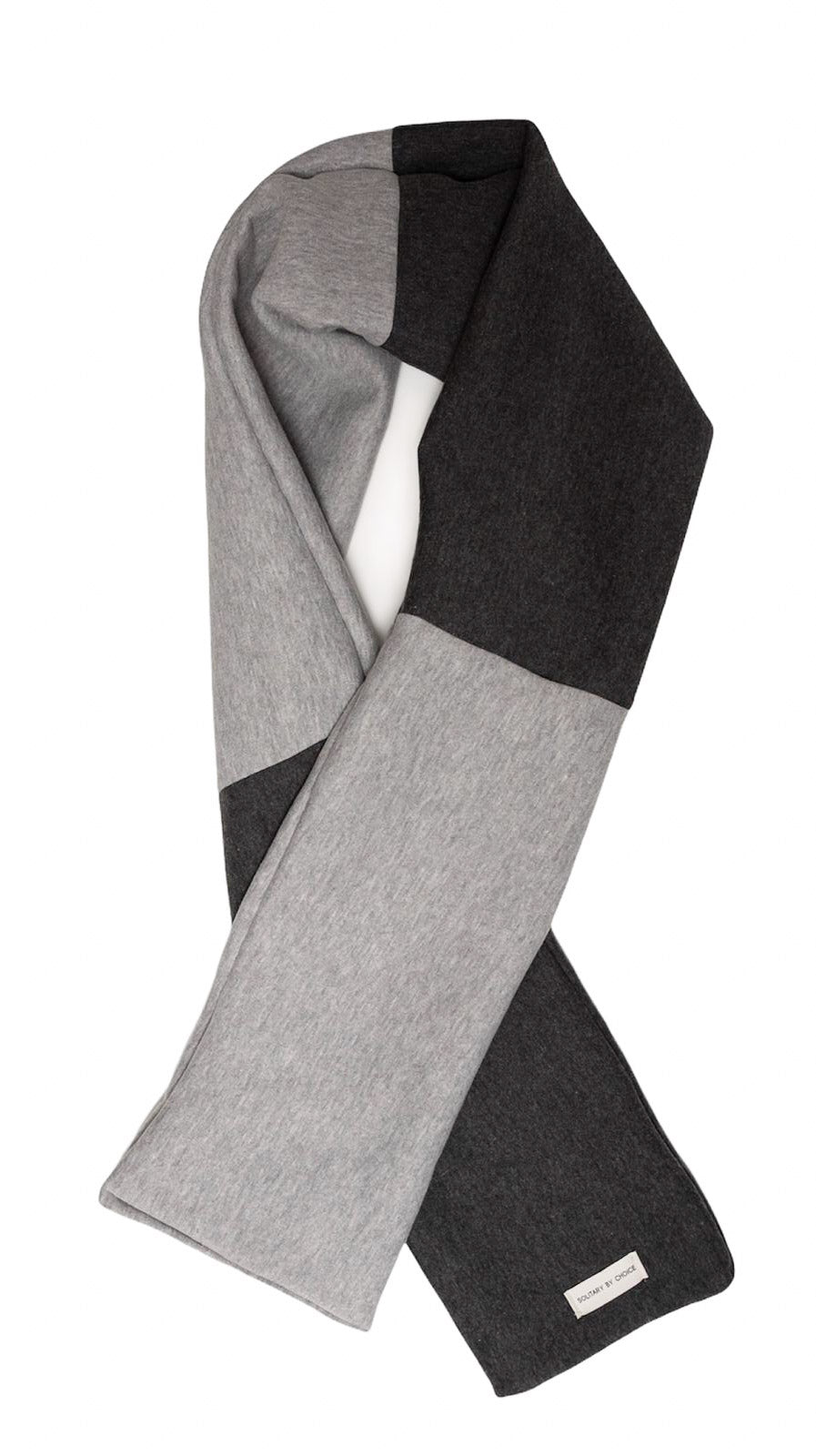 SOLITARY BY CHOICE TWO TONED GREY SCARF