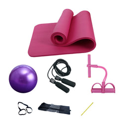 1Set Yoga Balls Yoga Mats Skipping Rope Spring Exercise Elastic Belt Fitness Multi-Function Yoga Fitness Equipment