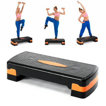 100KG Max Load Cardio Yoga Pedal Stepper Adjustable Non-slip Gym Aerobic Pedals Workout Fitness Equipment
