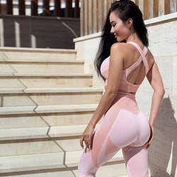 Yoga Set Seamless Workout Sport Women Fitness Suit