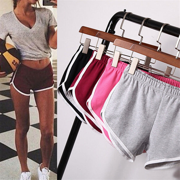 Summer Women Sports Shorts Short Pants Gym Workout Waistband Running Jogging Short