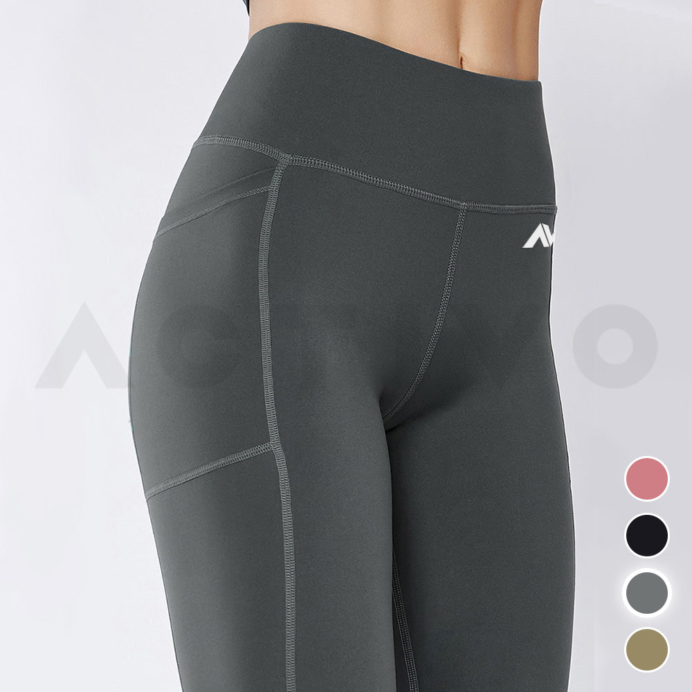Activo Premium Flex Pocket Leggings - Charcoal