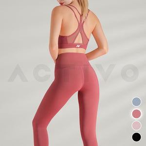 Activo Vertex Mesh Sports Bra - Blush