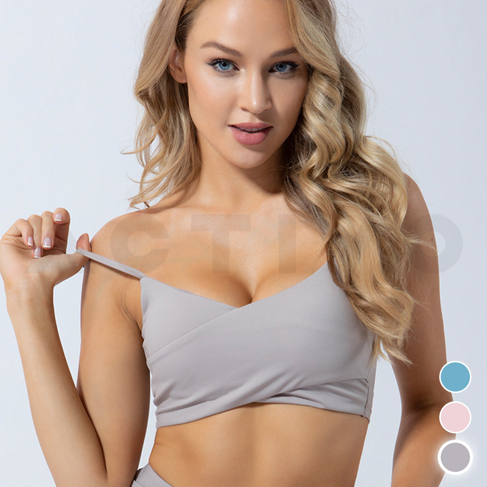 Activo Aeris Wrap Sports Bra  - Smoke