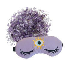 Load image into Gallery viewer, Amethyst Crystal Infused Weighted Sleep Eye Mask by The Sleepy Cottage