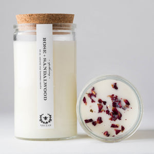 Nectar Republic Rose + Sandalwood Apothecary Candle
