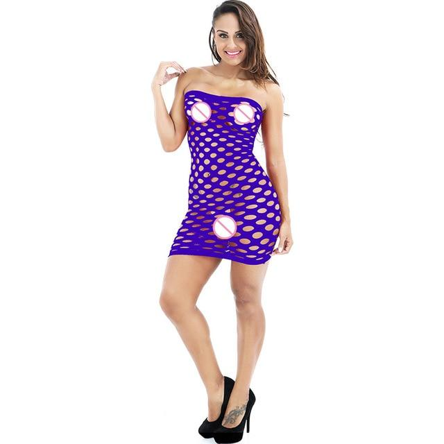 Elasticity Cotton Hot Mesh Baby Doll Dress