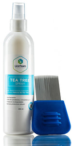Pack Shock Tea tree  spray y peine de arrastre