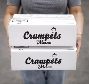 Heart Chocolate Crumpets Box of 25