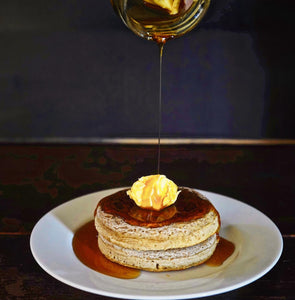 Crumpets with Pepe Saya Maple Butter