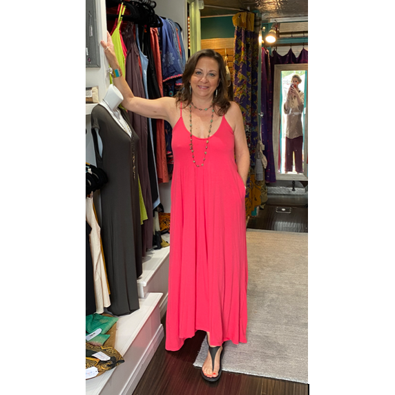 Jersey Maxi Sundress with Pockets