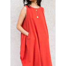 Load image into Gallery viewer, Cotton Sleeveless Harem Dress with Pockets