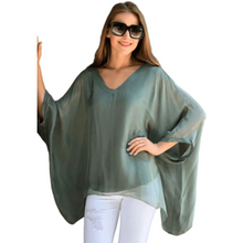 Load image into Gallery viewer, V-Neck Longer Sleeve Blouse