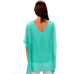 V-Neck Longer Sleeve Blouse