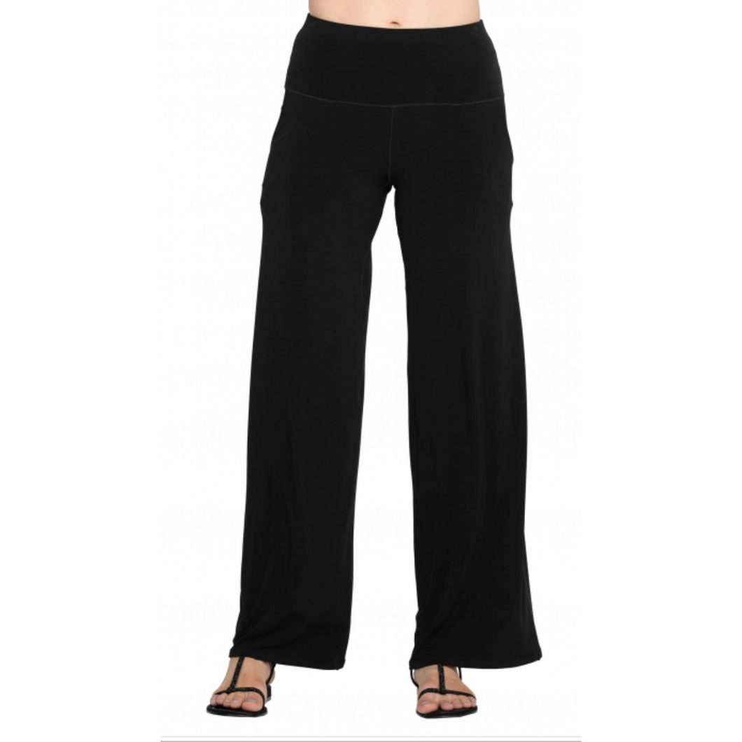Side Seam Pocket Palazzo Pants