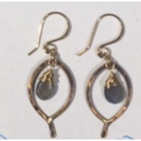 Mini Leaf Drop Earring