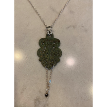 Load image into Gallery viewer, Medieval Buckle Diamond Heart Necklace
