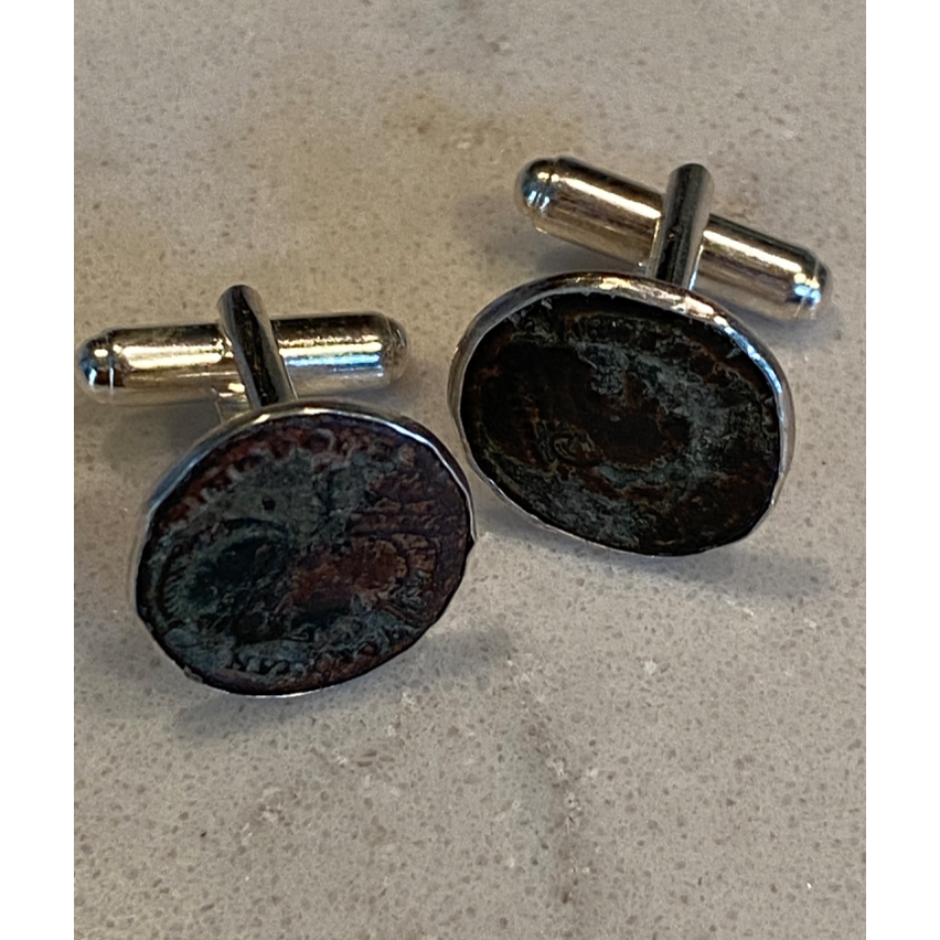 Roman Coin Cuff Links