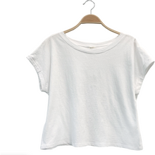 Load image into Gallery viewer, Short Sleeve Recycled Crop Cotton T