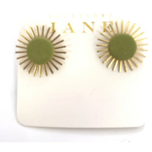 Load image into Gallery viewer, Sunburst Stud Earrings