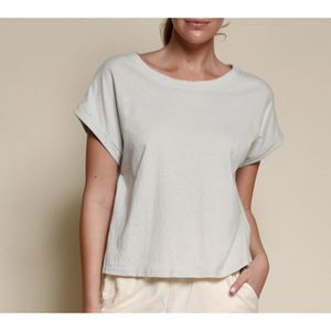 Short Sleeve Recycled Crop Cotton T