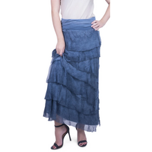 Load image into Gallery viewer, Silk Ruffle Maxi Skirt