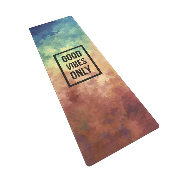 4.5 mm Microfibre Natural Yoga Mat Printed