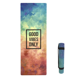 4.5 mm Microfibre Yoga Mat Printed