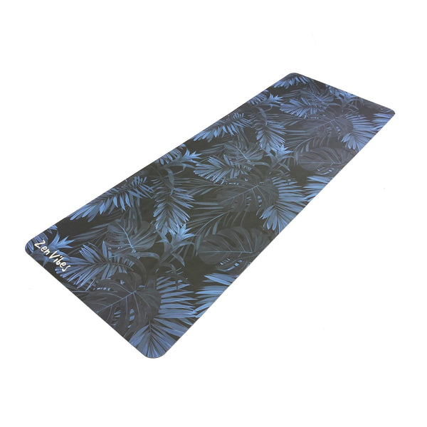 4.5 mm PU Natural Yoga Mat Leaf Print