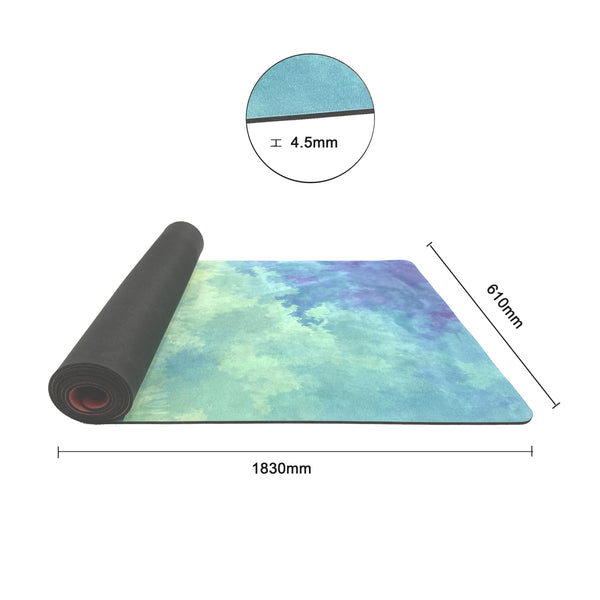 4.5 mm Thick Microfibre Rubber Yoga Mat Printed