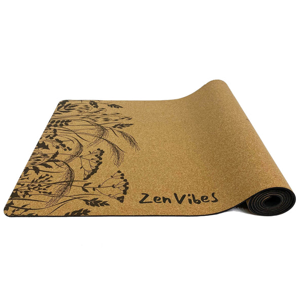 4.5 mm eco-friendly Cork Yoga Mat Fearless Tiger Print