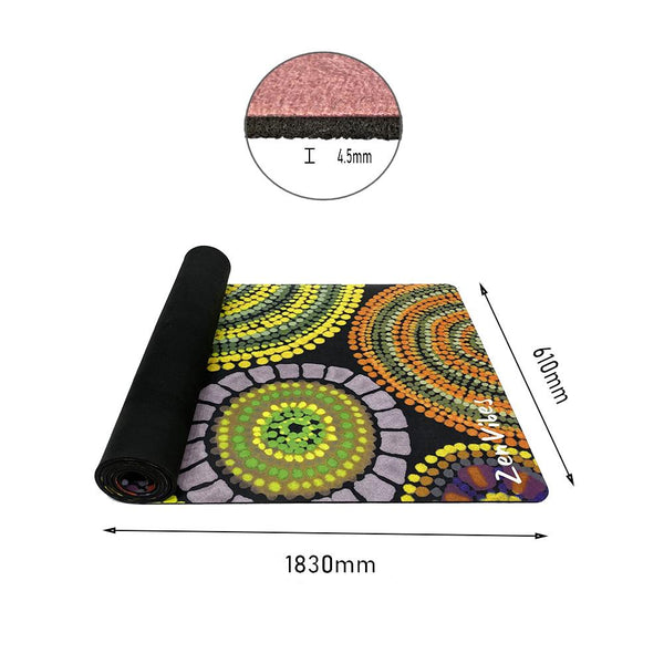 4.5mm Thick Microfibre Rubber Yoga Mat