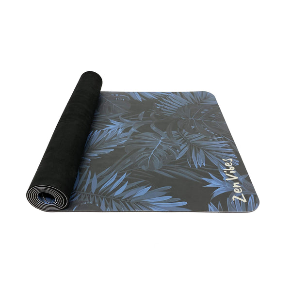 4.5 mm Colourful PU Yoga Mat Leaf Print